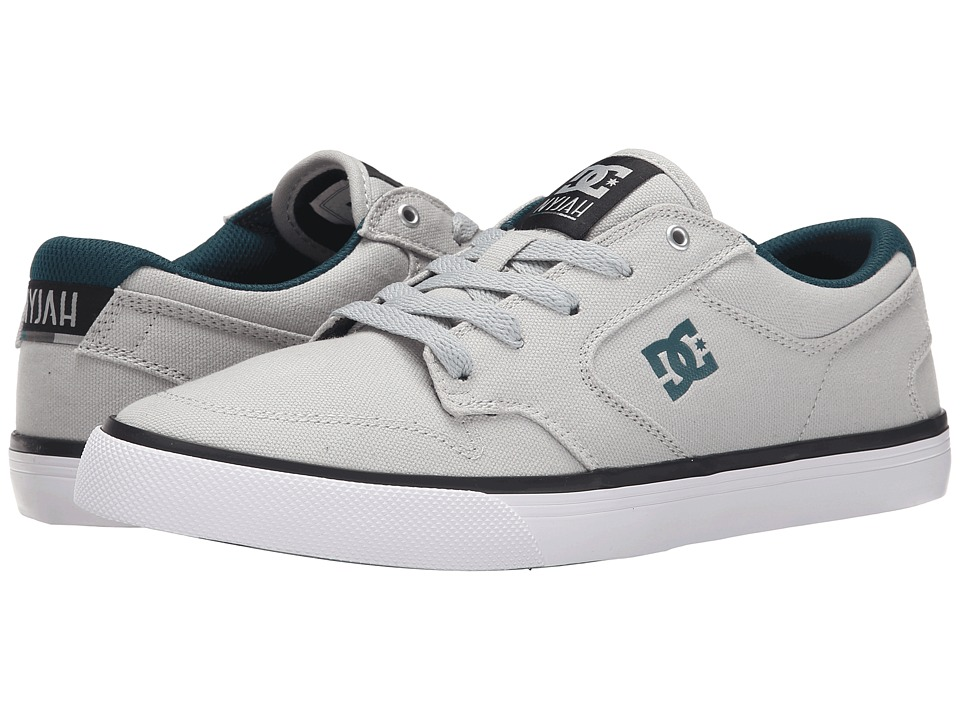 DC - Nyjah Vulc TX (Grey/Blue) Men's Skate Shoes