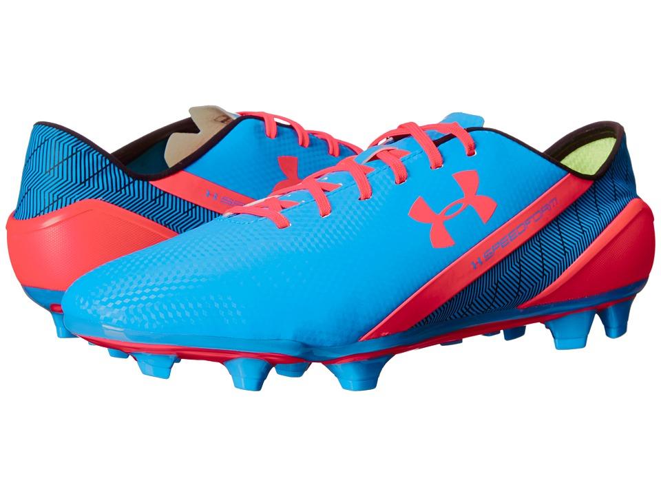 Under Armour - UA Speedformtm FG (Capri/Black/Afternburn) Men's Soccer Shoes