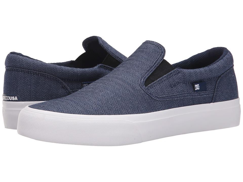 DC - Trase Slip-On TX SE (Navy) Skate Shoes