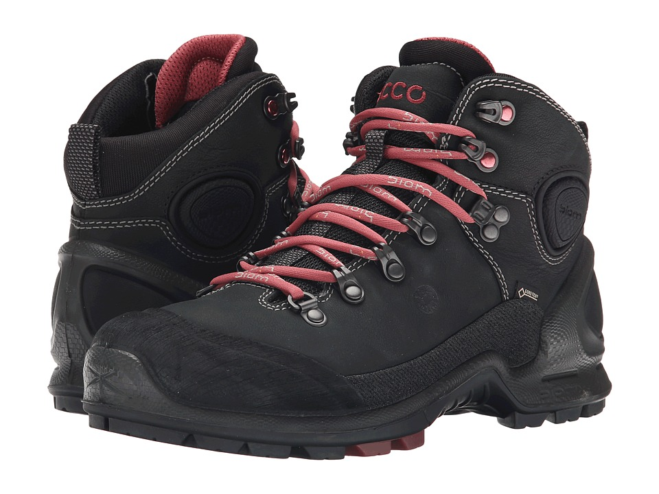 ECCO Sport - Biom Terrain Lo Plus (Black/Black/Petal Trim) Women's Hiking Boots
