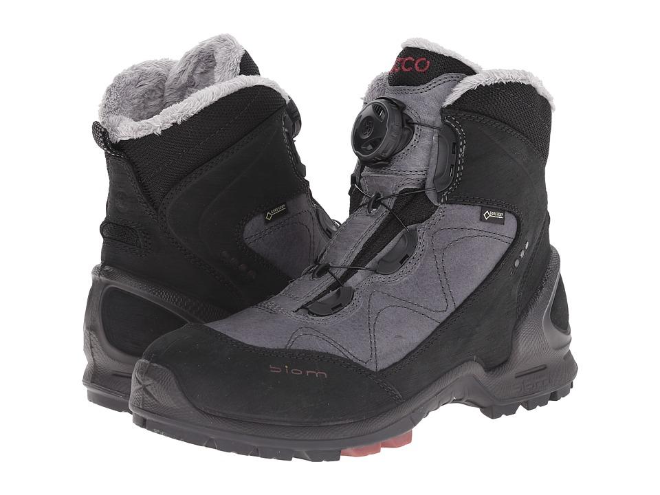 ECCO Sport - Biom Terrain Mid GTX (Black/Titanium/Petal Trim) Women's Hiking Boots