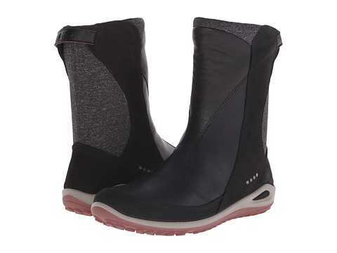 ECCO Sport - Biom Grip Bootie (Black/Black/Petal Trim) Women's Cold Weather Boots