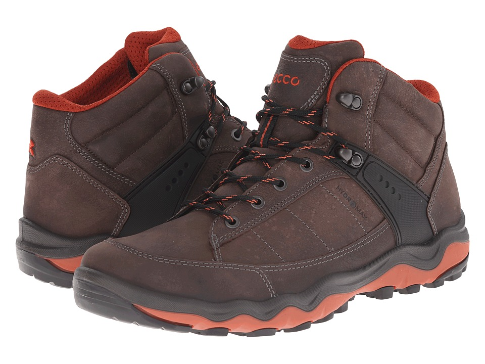 ECCO Sport - Ulterra Dhaka Mid (Coffee/Picante) Men's Hiking Boots