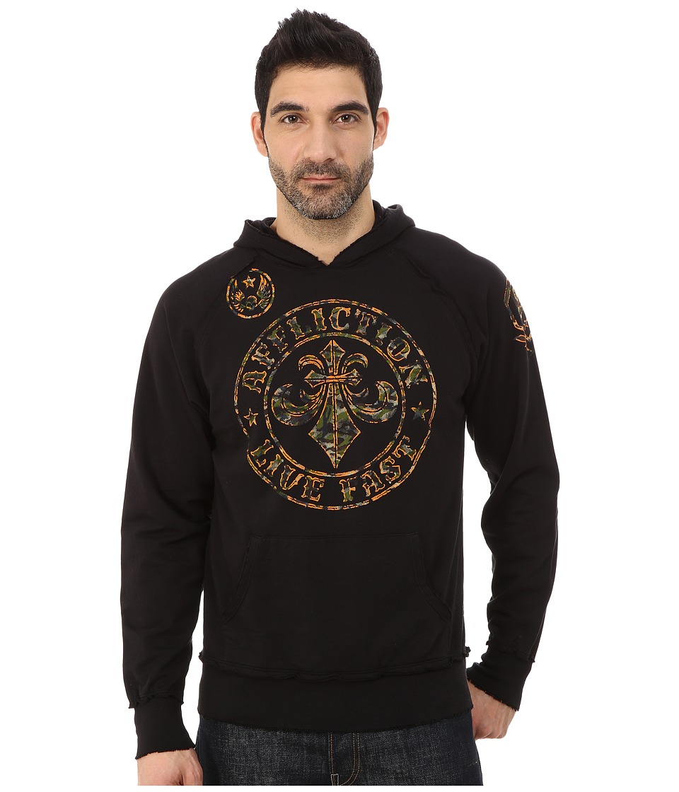 Affliction - Divio Camo Fleece Hoodie (Black) Men
