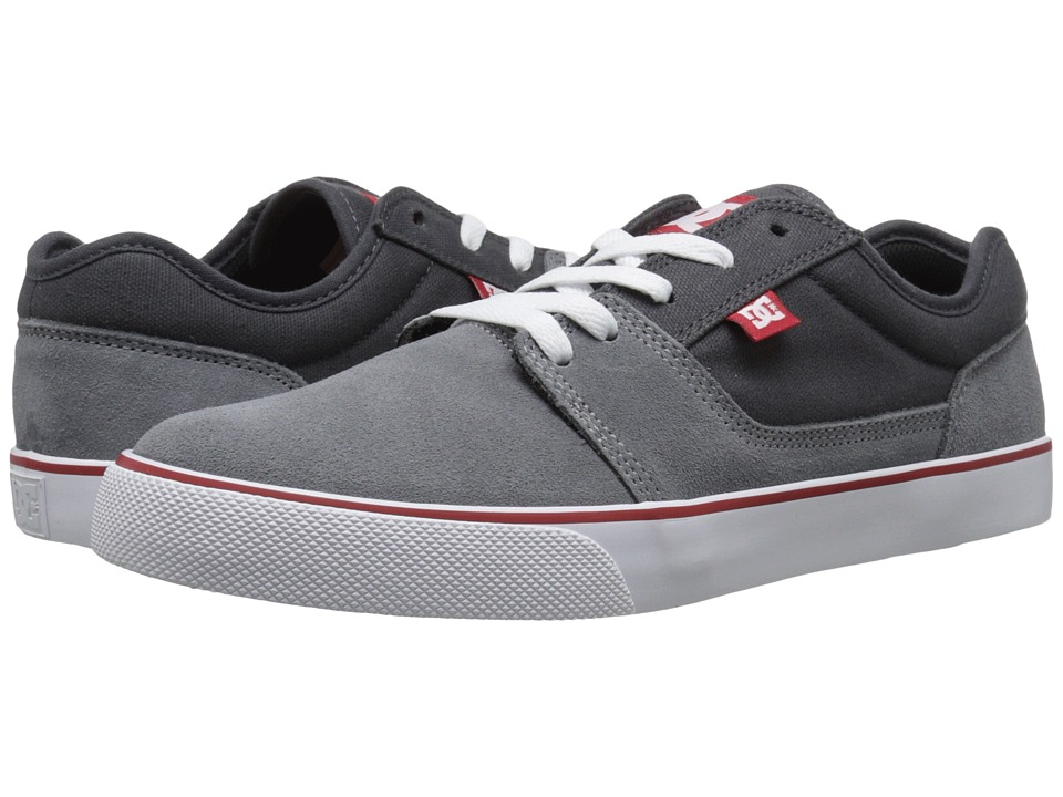 DC - Tonik (Grey/Grey/Red) Men's Skate Shoes