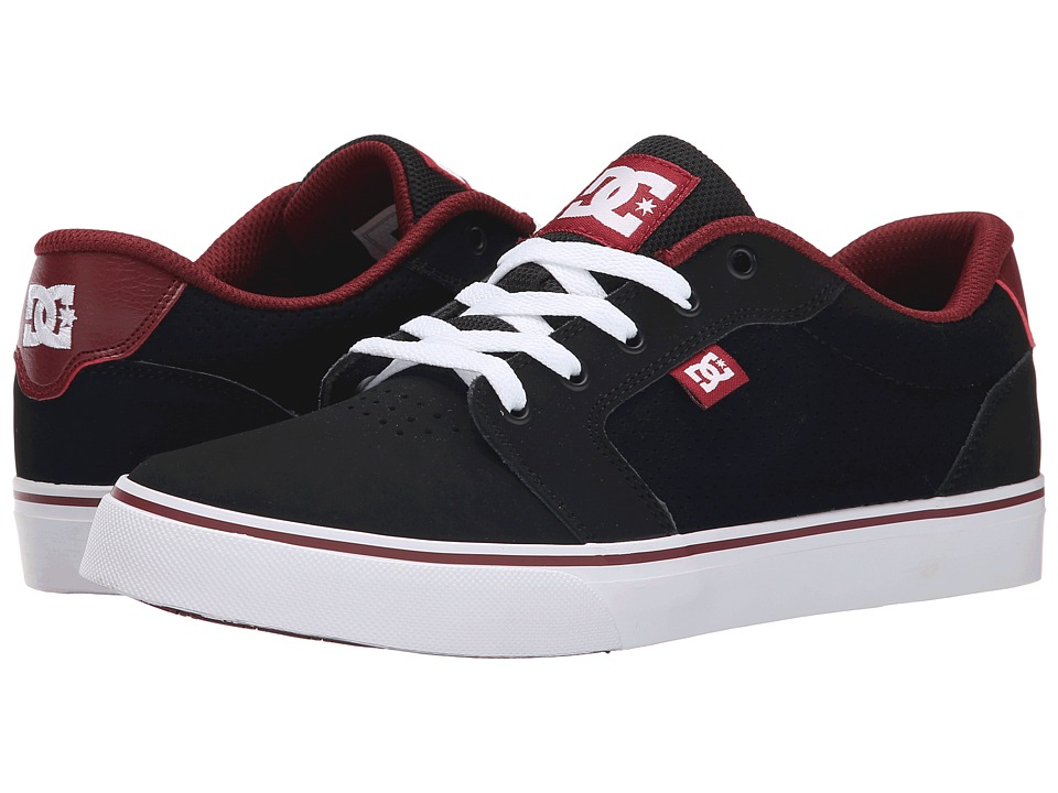 DC - Anvil NB (Black/Dark Red) Men's Skate Shoes