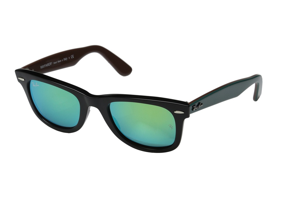 Ray-Ban - RB2140 Original Wayfarer 54mm (Black/Green Mirror) Sport Sunglasses