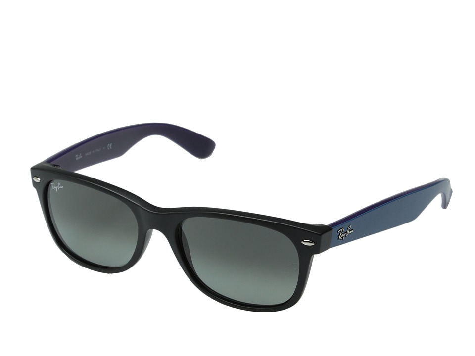 Ray-Ban RB2132 New Wayfarer 55mm (Black Matte/Dark Gray Gradient) Fashion Sunglasses