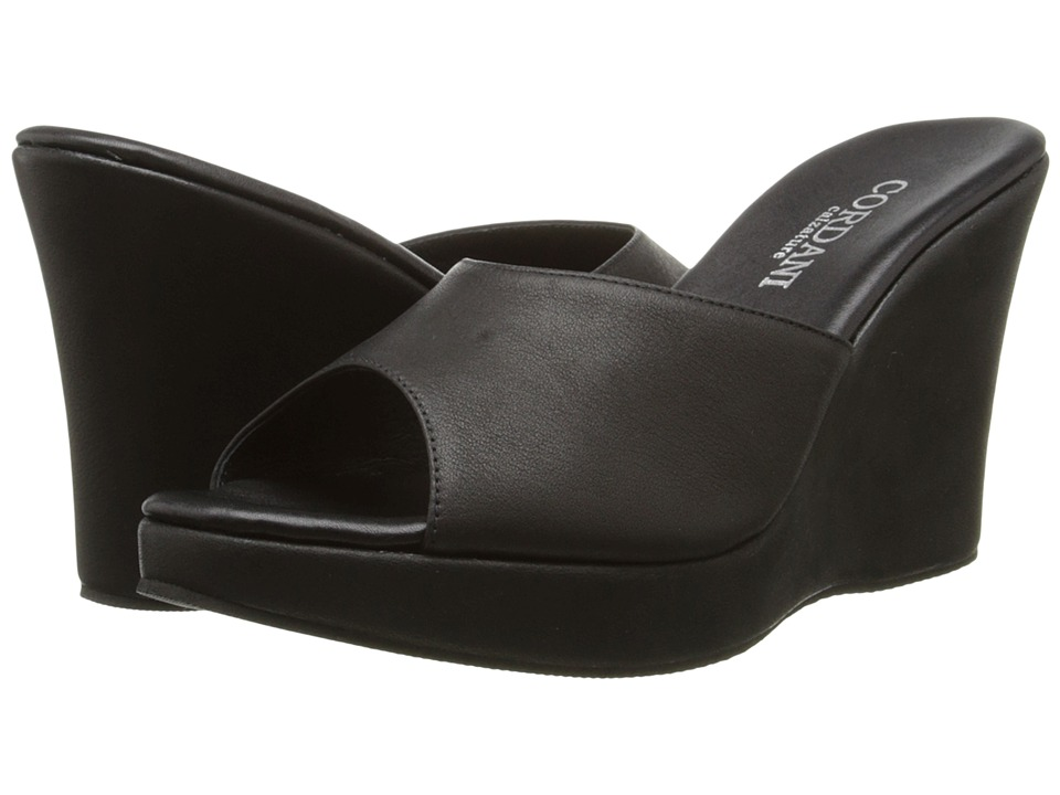 Cordani - Wish (Black Soft Leather) Women's Wedge Shoes