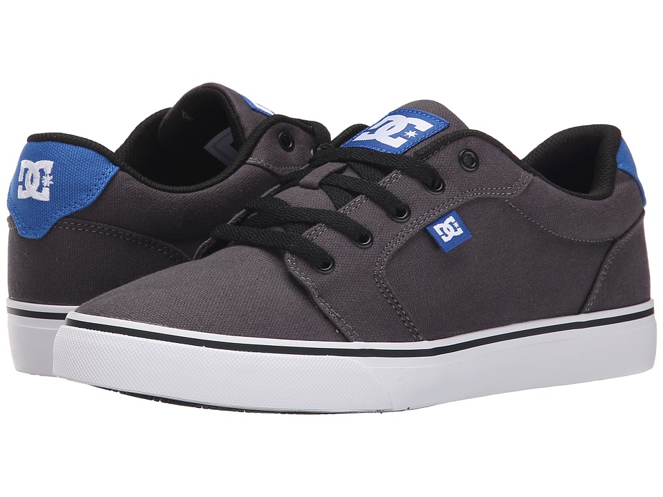 DC - Anvil TX (Grey/Grey/Blue) Men's Skate Shoes