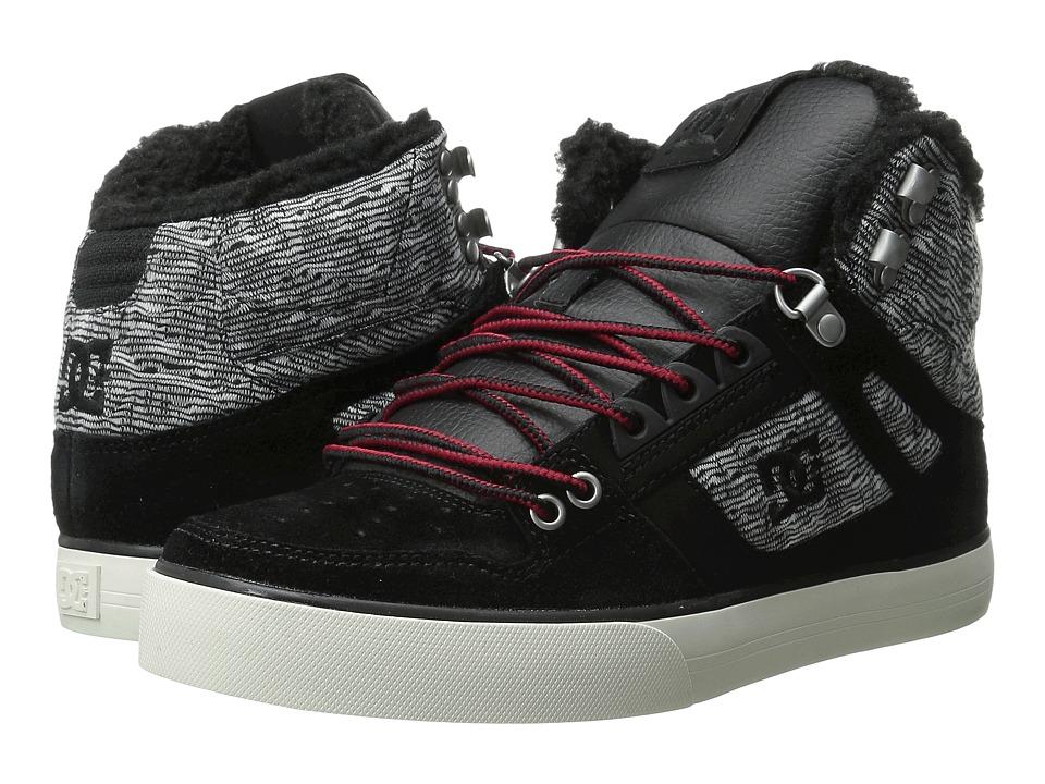 DC - Spartan High WC WNT (Black Rinse) Men's Shoes