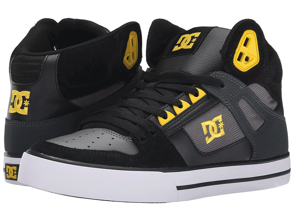 DC - Spartan High WC (Black/Yellow) Men's Shoes