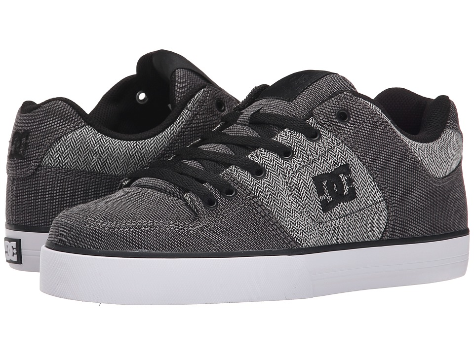 DC - Pure TX SE (Grey/Grey/White) Men's Skate Shoes