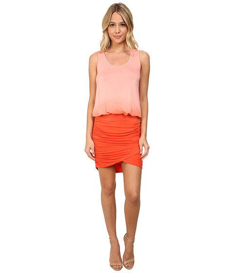 Young Fabulous & Broke - Elize Dress (Coral Ombre) Women's Dress