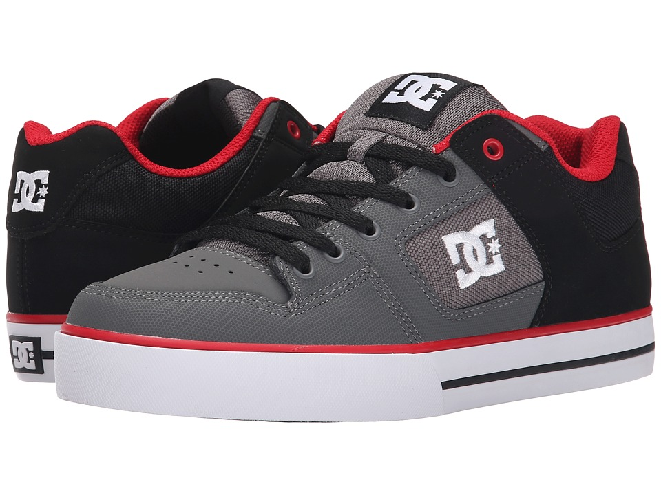DC - Pure (Black/Grey/Red) Men's Skate Shoes