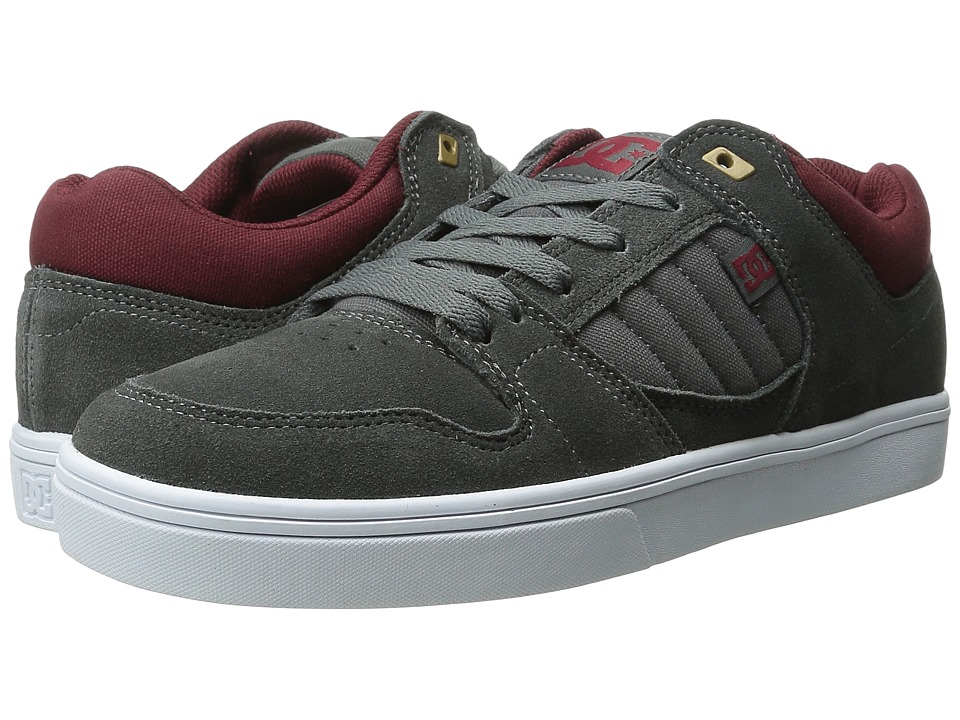 DC - Course 2 (Grey/Dark Red) Men's Skate Shoes