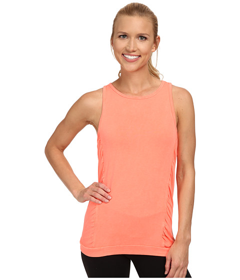 Pink Lotus - French Terry Shirred Tank Top (Sunset) Women's Sleeveless