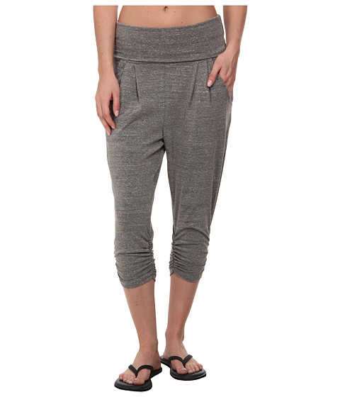 Pink Lotus - Free Spirit Capris (Heather Grey) Women's Capri