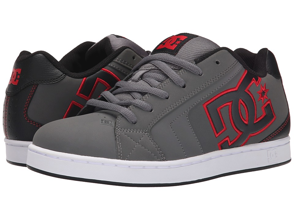 DC - Net (Grey/Red) Men's Skate Shoes