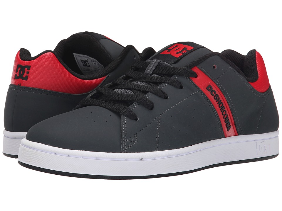DC - Wage (Grey/Red) Men's Skate Shoes