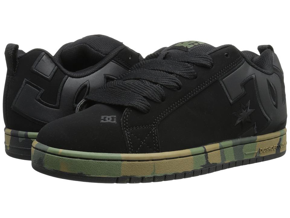 DC - Court Graffik SE (Black Camouflage) Men's Skate Shoes