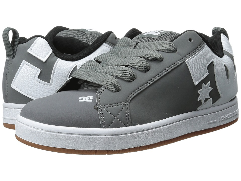 DC - Court Graffik (Grey/White/Grey) Men's Skate Shoes