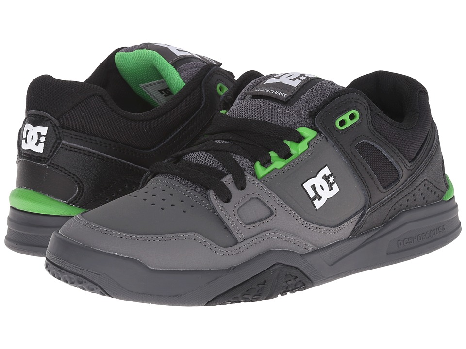 DC - Stag 2 (Black/Dark Shadow/Green) Men's Skate Shoes