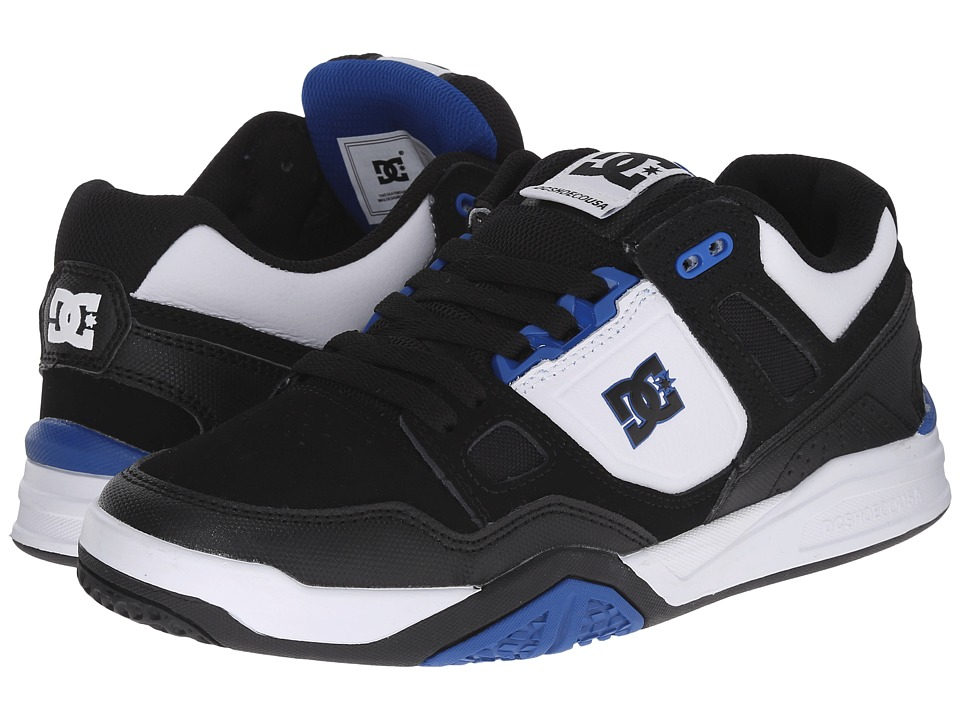 DC - Stag 2 (Black/White/Royal) Men's Skate Shoes