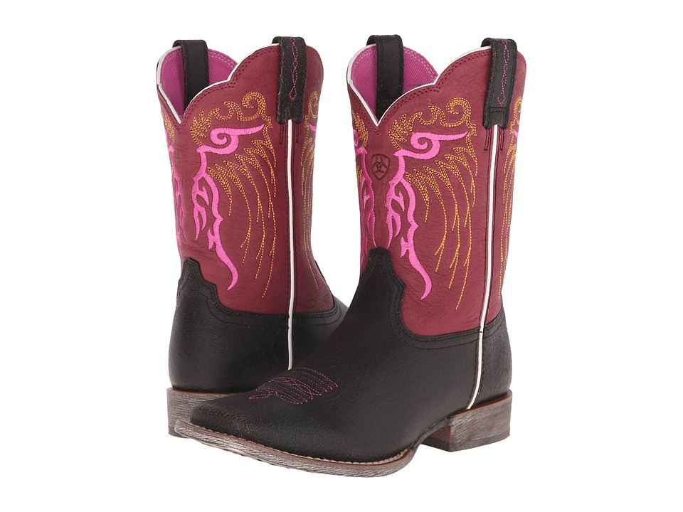 Ariat Kids - Mesteno Roasted (Toddler/Little Kid/Big Kid) (Toffee/Watermelon) Cowboy Boots