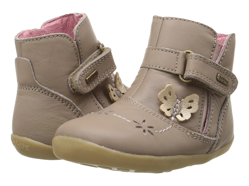 Bobux Kids - Step Up Flutter Boot (Infant/Toddler) (Taupe) Girls Shoes