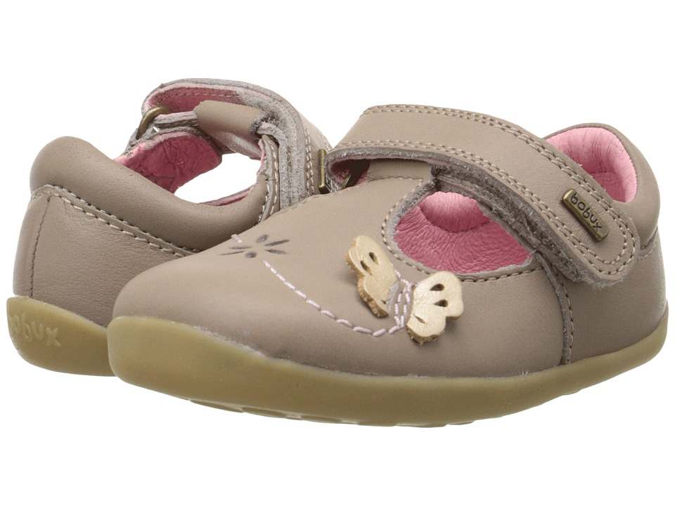 Bobux Kids - Step Up Flutter T-Bar (Infant/Toddler) (Taupe) Girl's Shoes
