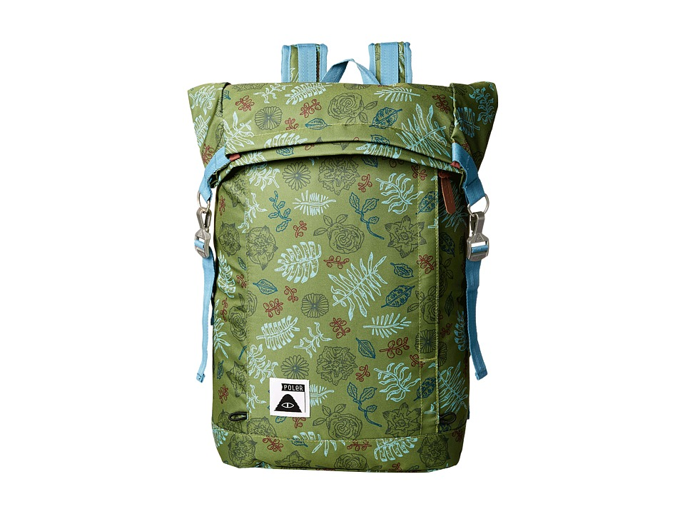 Poler - Rolltop Backpack (Brotanical Mossy) Backpack Bags