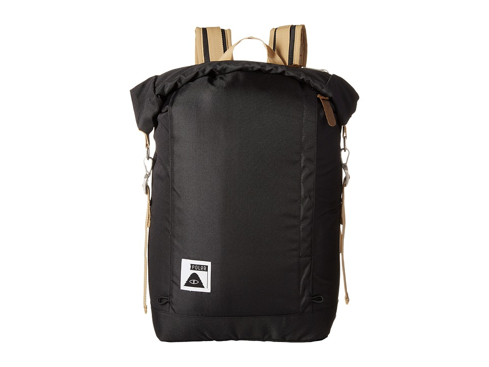 Poler - Rolltop Backpack (Black) Backpack Bags