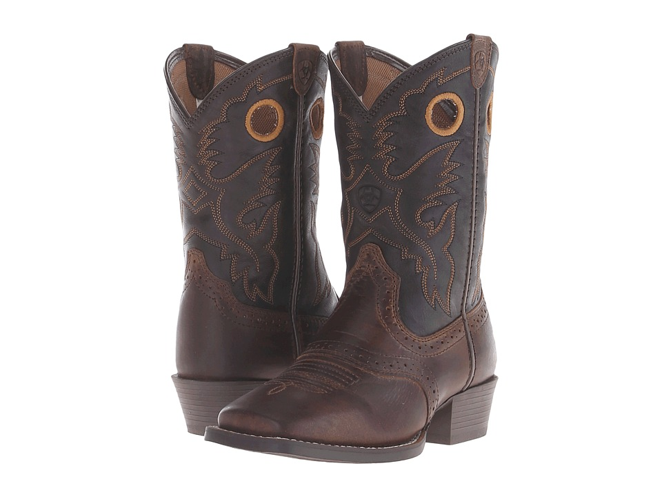 Ariat Kids - Roughstock Distressed (Toddler/Little Kid/Big Kid) (Brown/Black) Cowboy Boots