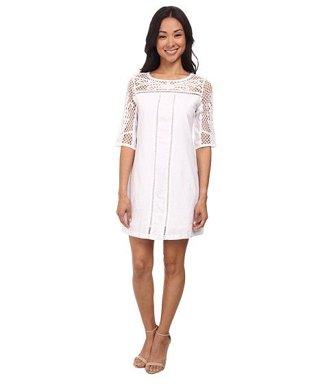 Olive & Oak - Embroidered Dress (White) Women's Dress