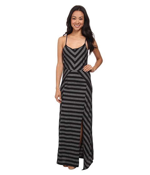 Olive & Oak - Stripe Maxi Dress (Black) Women