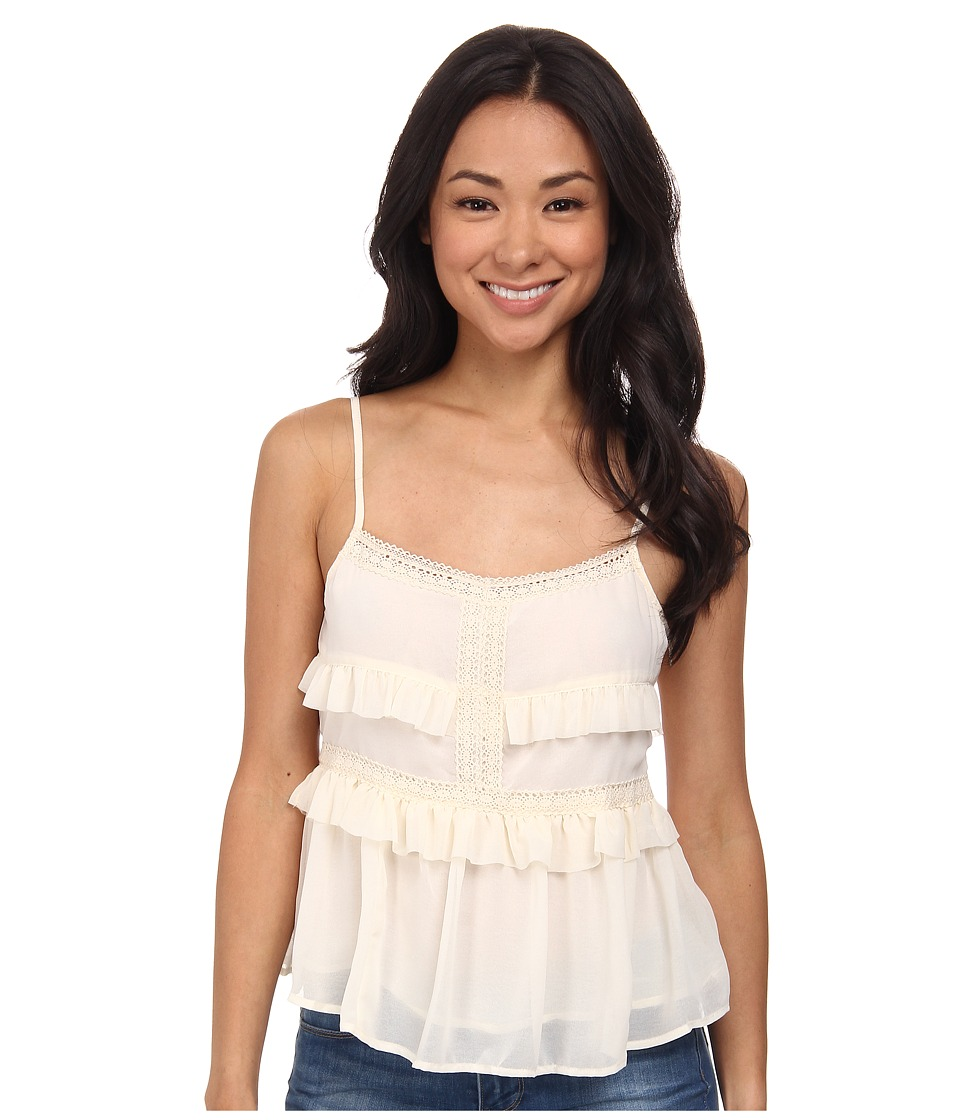 Olive & Oak - Ruffle Tank Top (Porcelain) Women's Sleeveless