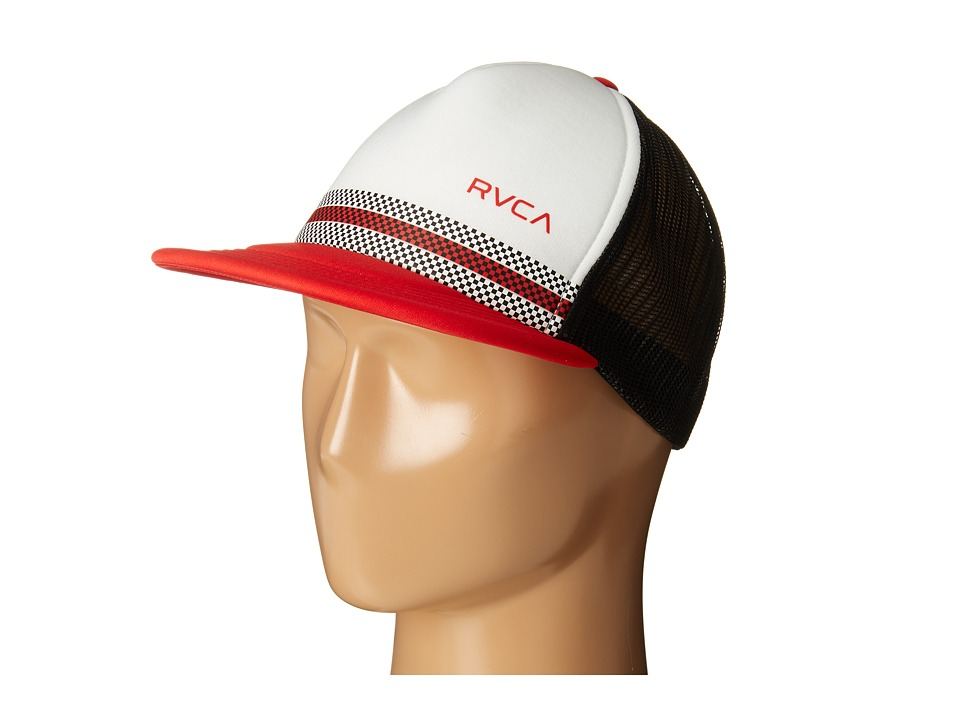 RVCA - Draughts Trucker (Black/Red) Caps