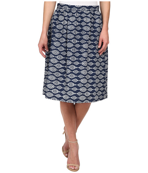 Olive & Oak - Ikat Swing Skirt (Navy Ikat) Women