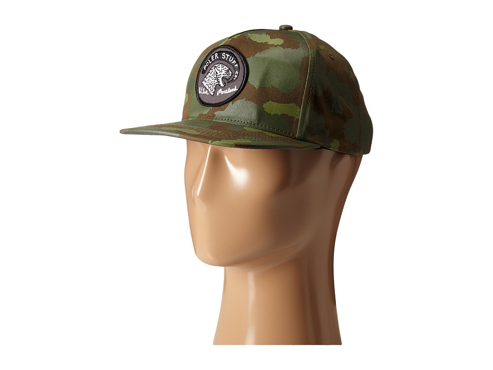 Poler - Tiger Eye Snapback (Green Camo) Caps