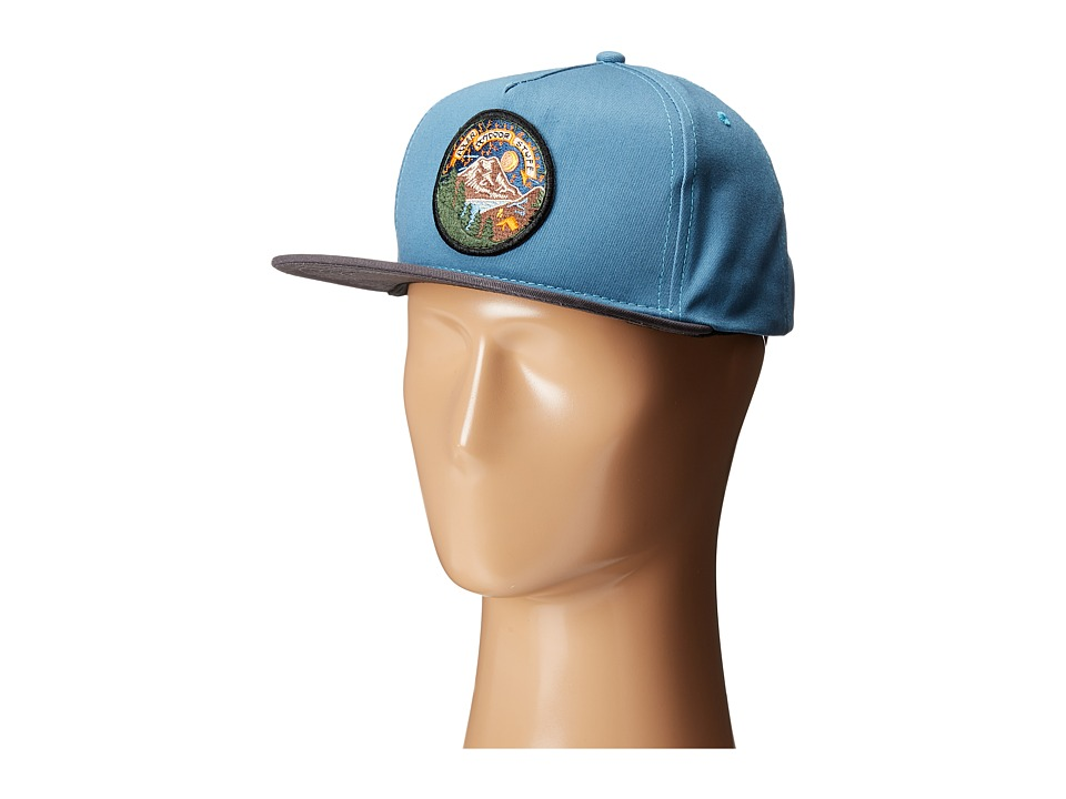 Poler - Camp Time Snapback (True Blue) Caps