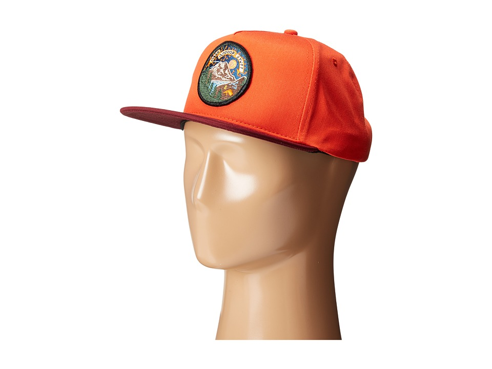 Poler - Camp Time Snapback (Burnt Orange) Caps