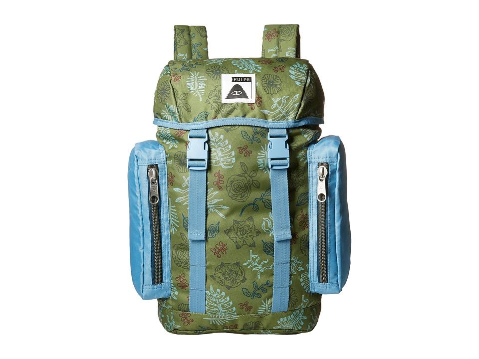 Poler - Kids Pack (Brotanical Mossy/True Blue) Backpack Bags