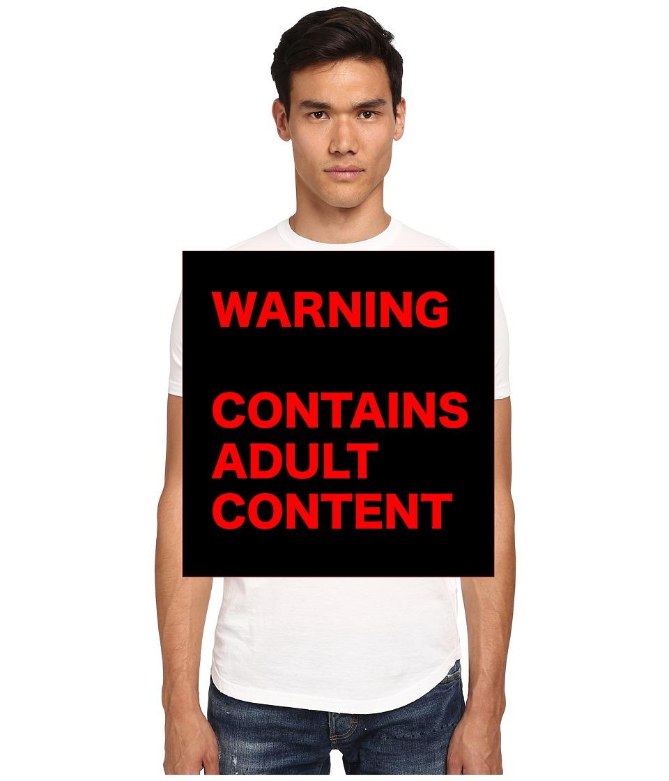 DSQUARED2 - Freezing Slim Fit T-Shirt (White) Men's T Shirt