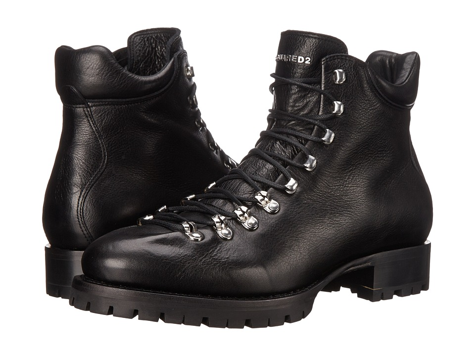 DSQUARED2 - Whistler Laced Up Ankle Boot (Nero) Men