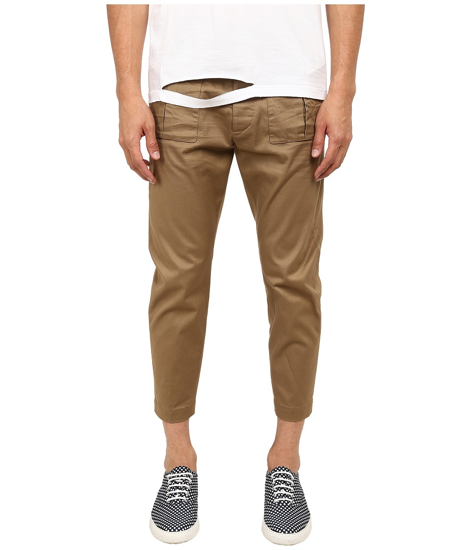 DSQUARED2 - Front Patch Pocket Pants (Beige) Men's Casual Pants