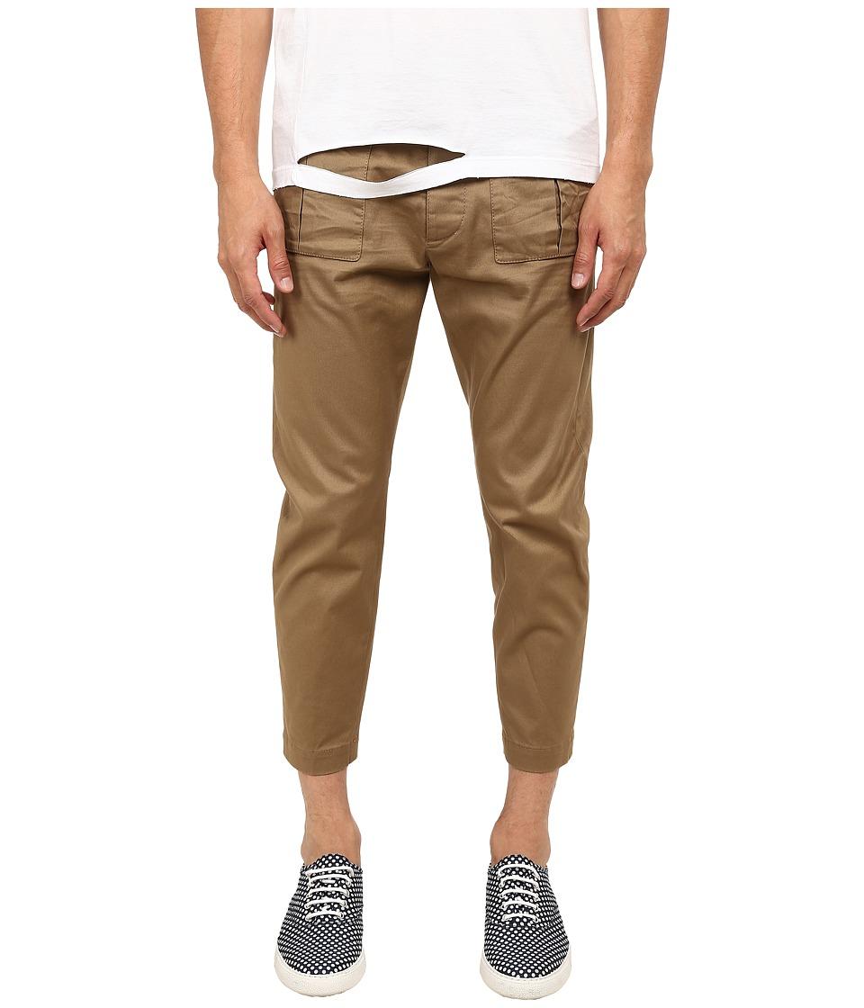 DSQUARED2 - Front Patch Pocket Pants (Beige) Men's Casual Pants