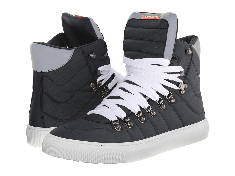 DSQUARED2 - Alfredo High Top Sneakers (Nero) Men's Shoes