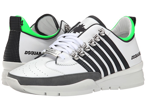 DSQUARED2 - Sport Sneakers (Bianco Nero) Men's Shoes