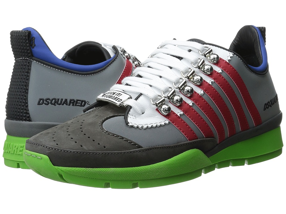DSQUARED2 - Sport Sneakers II (Grigio Rosso) Men's Shoes